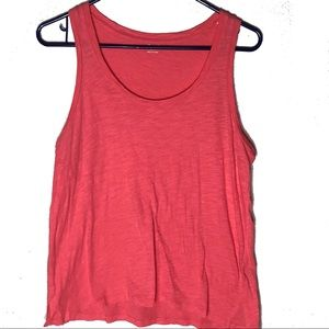 MADEWELL whisper cotton muscle tank coral/pink SM